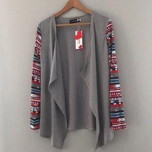 Relipop aztec pattern open cardigan